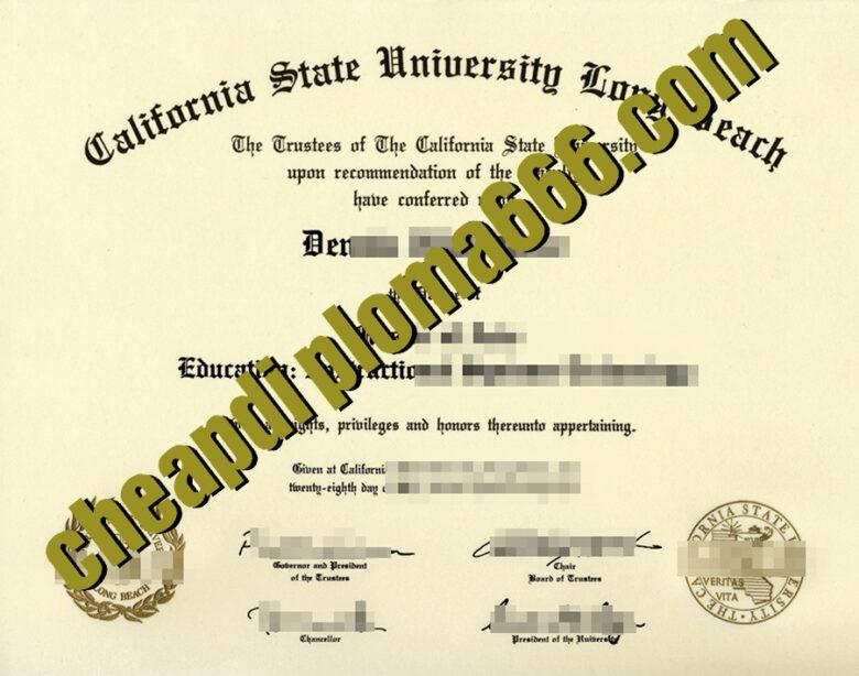 fake California State University Long Beach degree