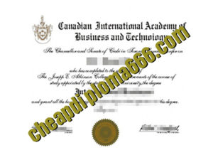 fake Canadian International Academy Business&Techno degree