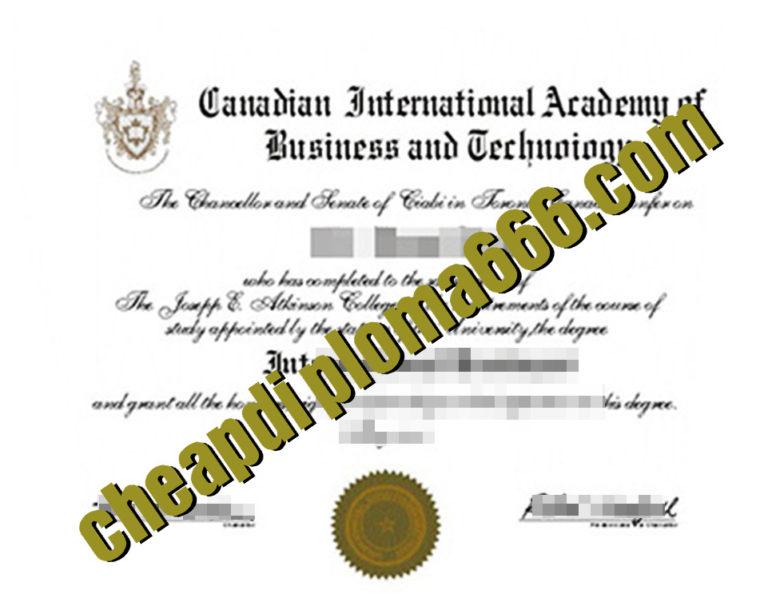 fake Canadian International Academy Business&Techno degree