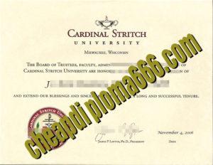 Cardinal Stritch University degree