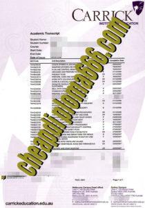 buy Carrick Institute of Education transcript