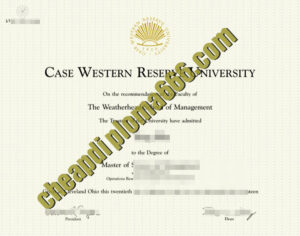 fake Case Western Reserve University degree certificate