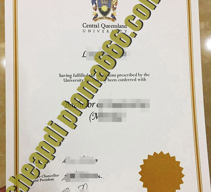 fake CQU degree certificate