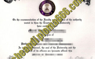 Clemson University degree certificate