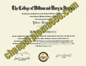 fake College of William & Mary degree