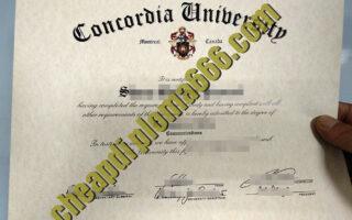 Concordia University fake diploma