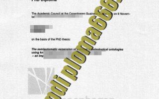 fake Copenhagen Business School certificate