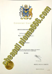Coventry University degree certificate