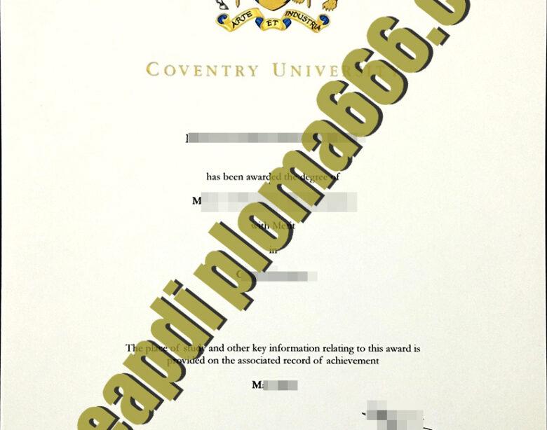Coventry University degree certificate