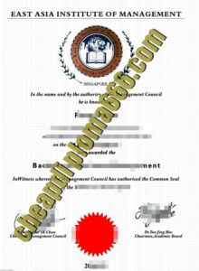 East Asia Institute of Management fake degree