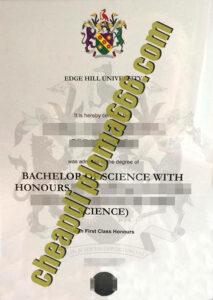 fake Edge Hill University diploma