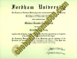 Fordham University fake degree