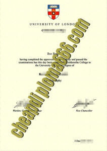 fake Goldsmiths University of London degree certificate