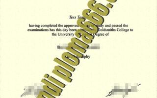 fake Goldsmiths University of London degree certificate