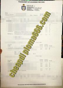 Hong Kong University of Science and Technology fake transcript