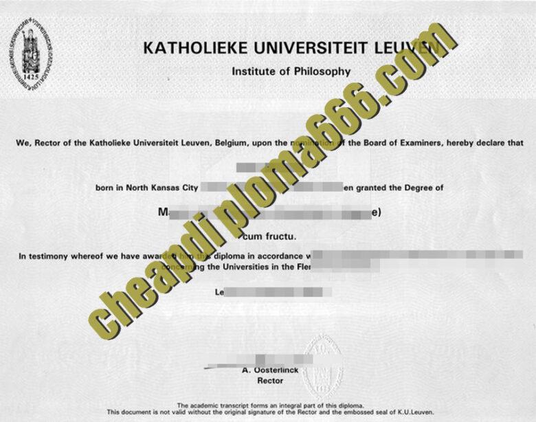fake Katholieke Universiteit Leuven degree