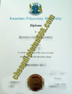 Kwantlen Polytechnic University degree certificate