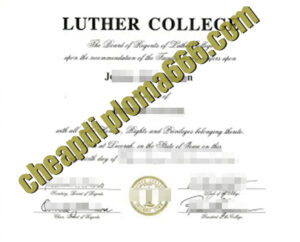 buy Luther College degree certificate