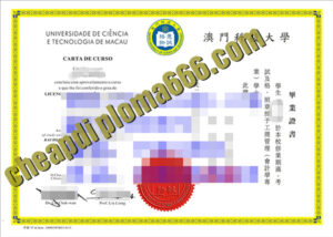 Macau University of Science and Technology degree