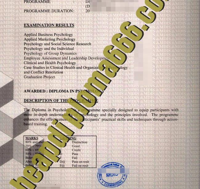 Management Development Institute of Singapore fake transcript