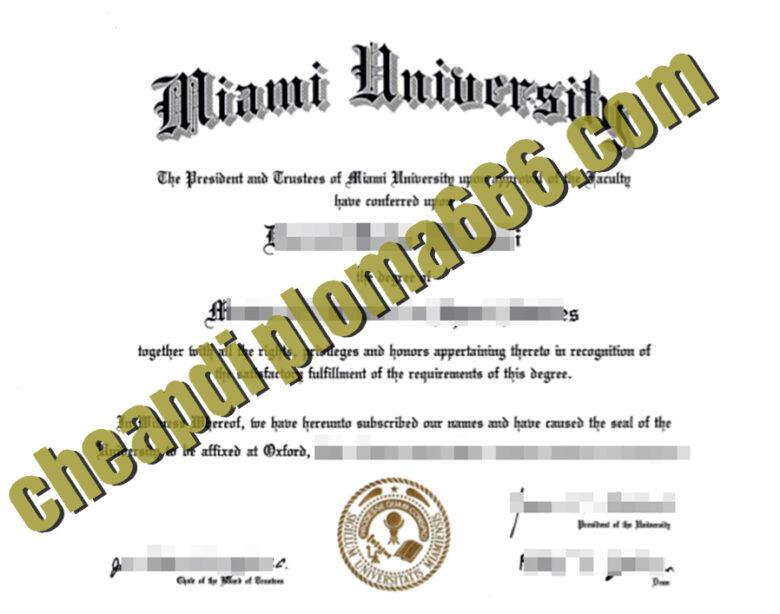 Miami University fake degree
