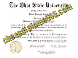 Ohio State University degree certificate
