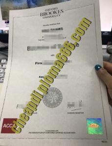 fake Oxford Brookes University degree certificate