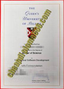 buy Queen's University Belfast degree certificate