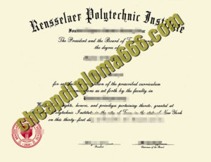 fake Rensselaer Polytechnic Institute degree certificate
