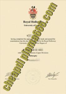 fake Royal Holloway diploma