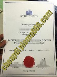 SEGi University fake degree