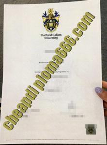 buy Sheffield Hallam University degree certificate