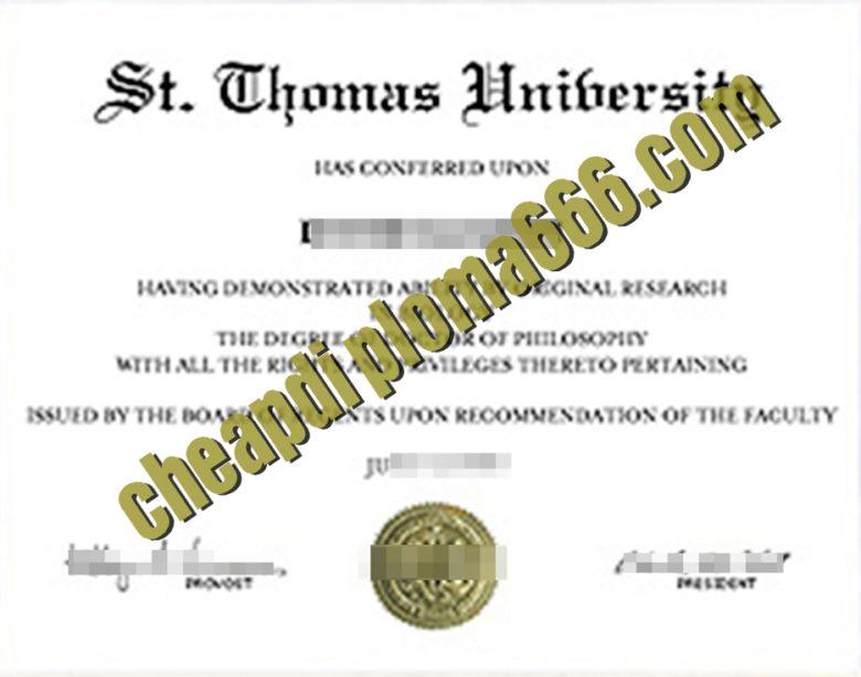 buy St. Thomas University degree certificate