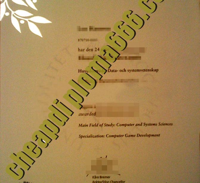 buy Stockholm University degree certificate