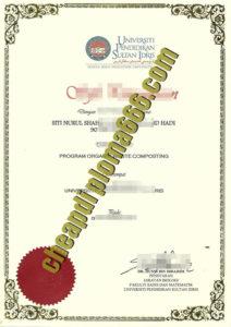 fake Sultan Idris Education University diploma