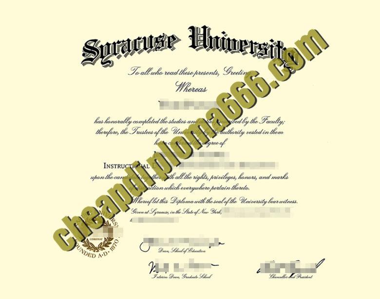 buy Syracuse University diploma