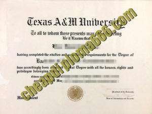 buy Texas A&M University degree