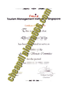 fake Tourism Management Institute of Singapore degree