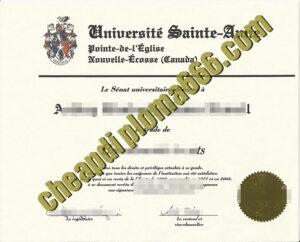 buy Université Sainte-Anne degree certificate