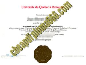 fake Université du Québec à Rimouski diploma