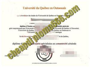 Université du Québec en Outaouais degree certificate