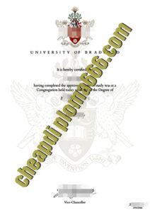 fake University of Bradford diploma