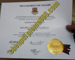 fake University of Calgary diploma
