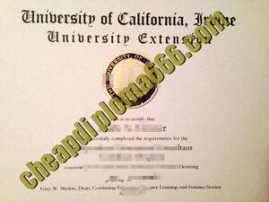 fake University of California, Irvine degree certificate