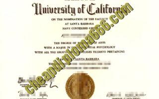 University of California, Santa Barbara degree certificate