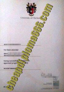 fake University of Chichester degree certificate