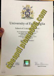 fake University of East Anglia degree