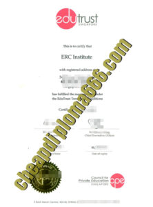 buy ERC Institute Singapore degree certificate
