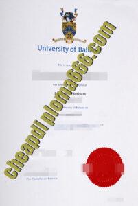 fake University of Ballarat diploma