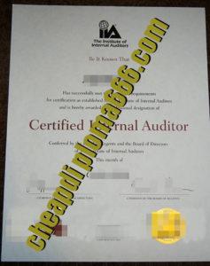 buy IIA certificate